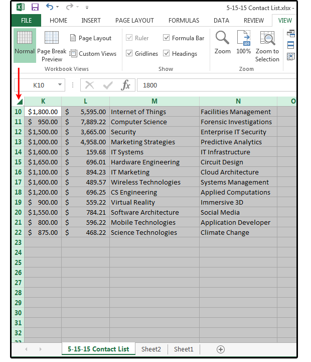 06 one corner click to select entire spreadsheet