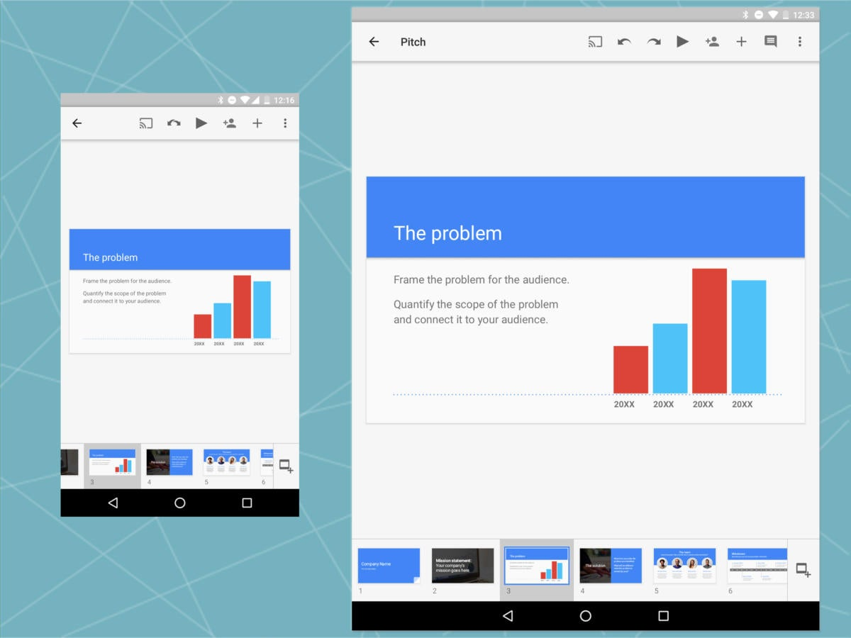Android Office: Google Presentation