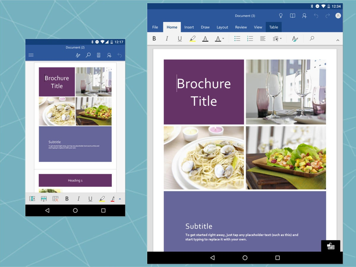 Android Office: Microsoft Word