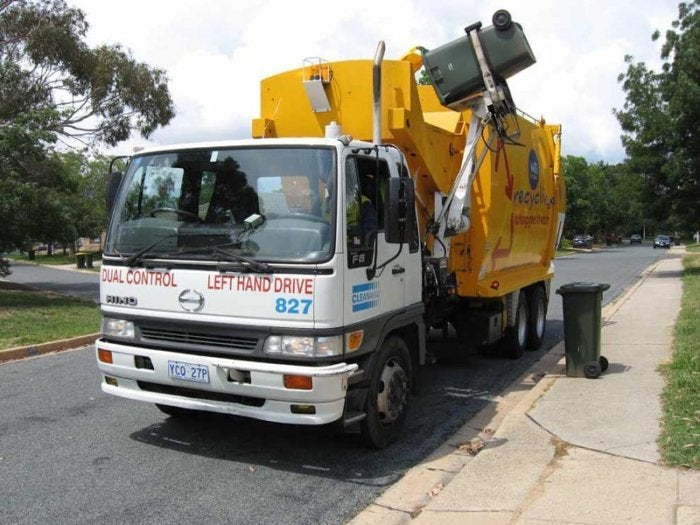 garbage collection trash truck