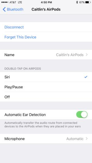 airpods bluetooth settings