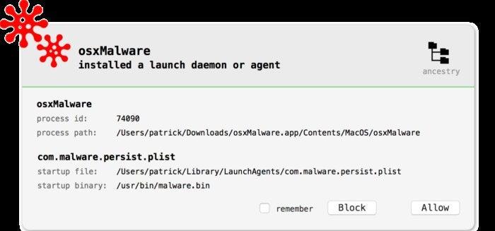 blockblock alert