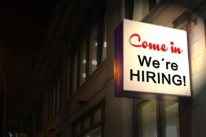 we're hiring sign jobs careers