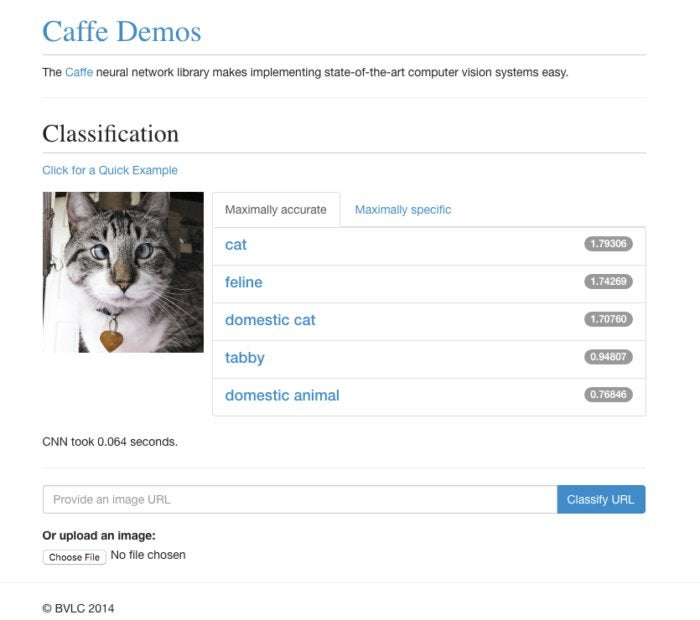 caffe image classification