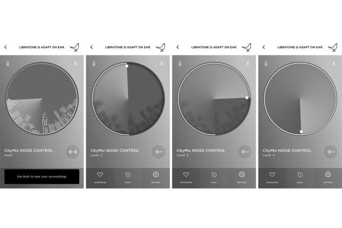 Through the Libratone App you can set the amount of active noise cancellation or determine how much