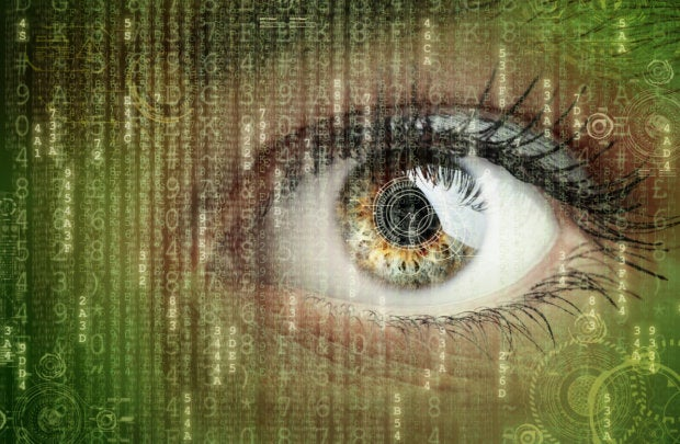 digital data surveillance eye