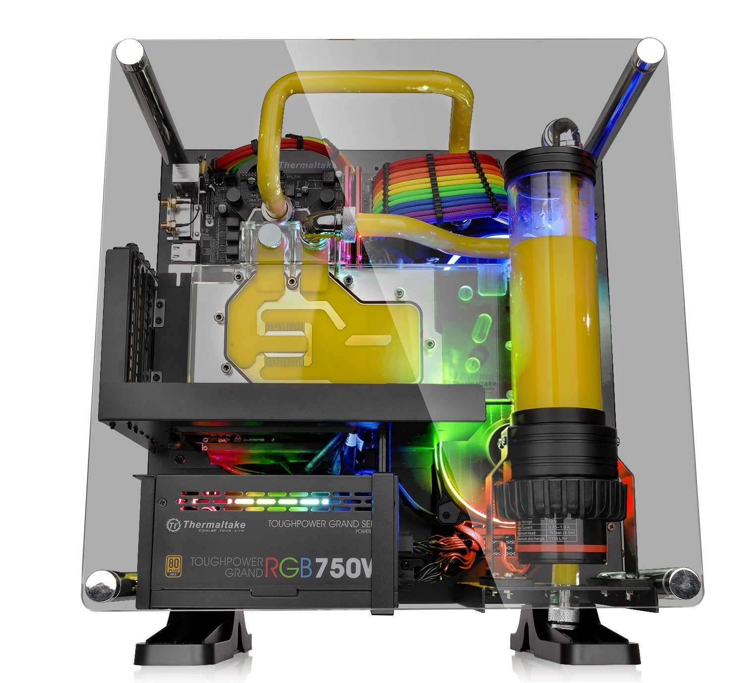 Thermaltakes Core P1 Tg Lets You Hang Your Mini Pc On The Wall Casing Open Air Itx Mikro Atx Thermaltake