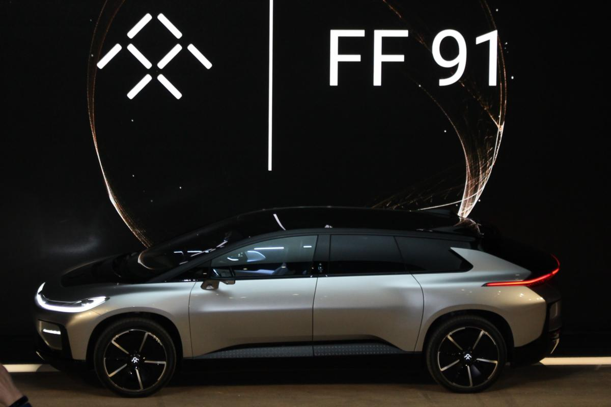 Faraday Future's FF 91 is an SUV-shaped supercar with a lot