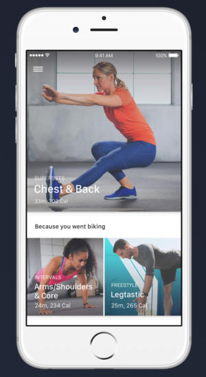 fitstar personal trainer ios dashboard recommended workout cropped