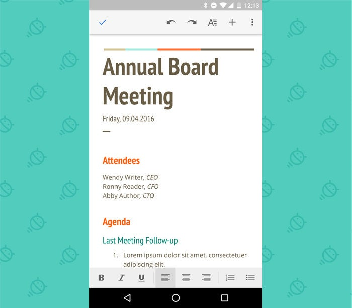 Google Docs - Android Phone