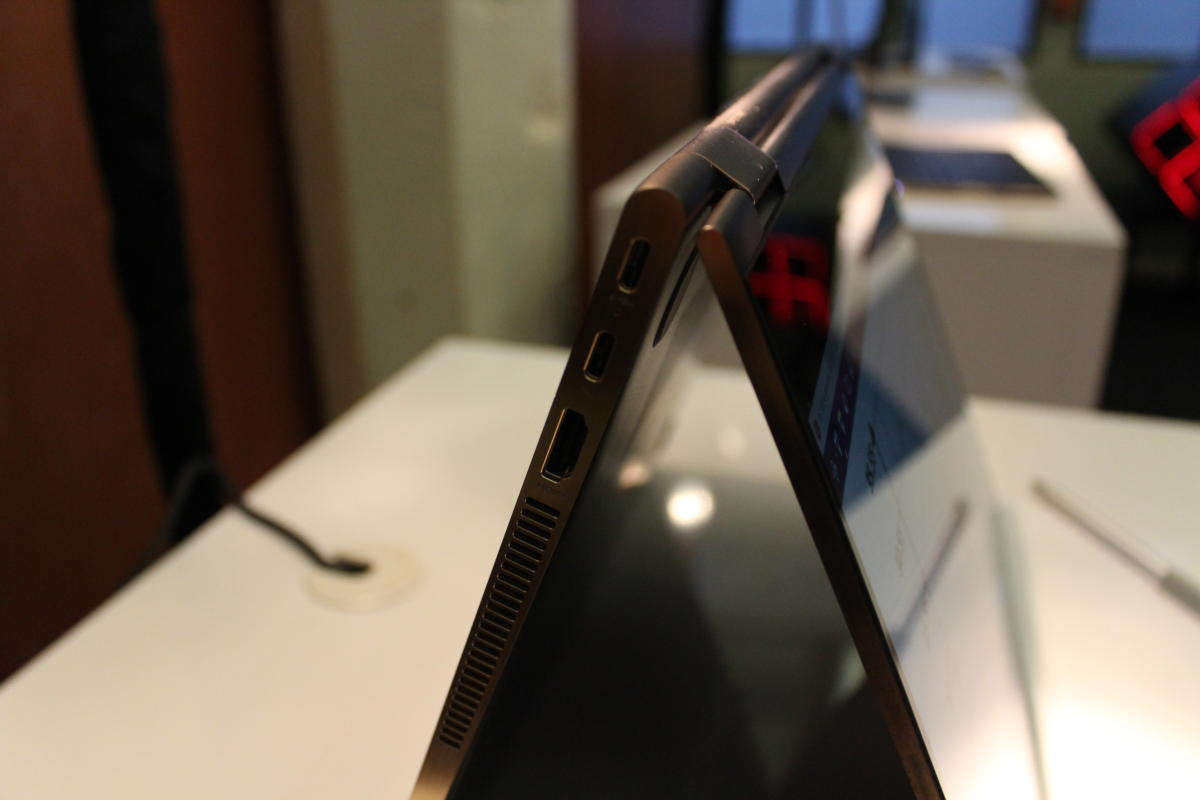 HP Spectre x360 15 2017 Side View 2