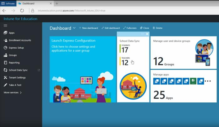 intune for education dashboard