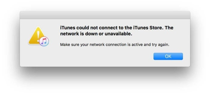itunes will not connect to internet on mac