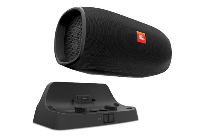 JBL's BassPro Go is a hybrid car speaker that you can undock and use as a wireless Bluetooth speaker