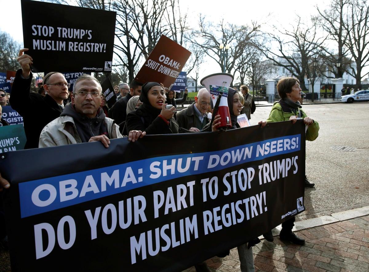 muslim registry protest