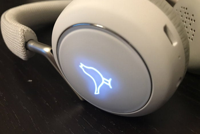 The Nightingale on the right ear cup lights up when you change settings.