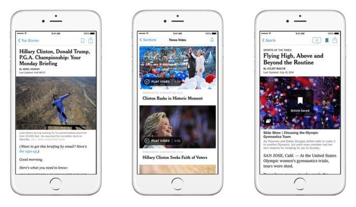nytimes ios app