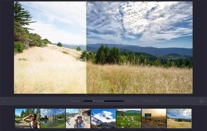 photolemur batch images sky