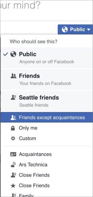 privatei fb posting audience menu