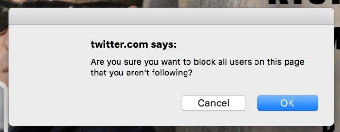 privatei twitter block chain warning