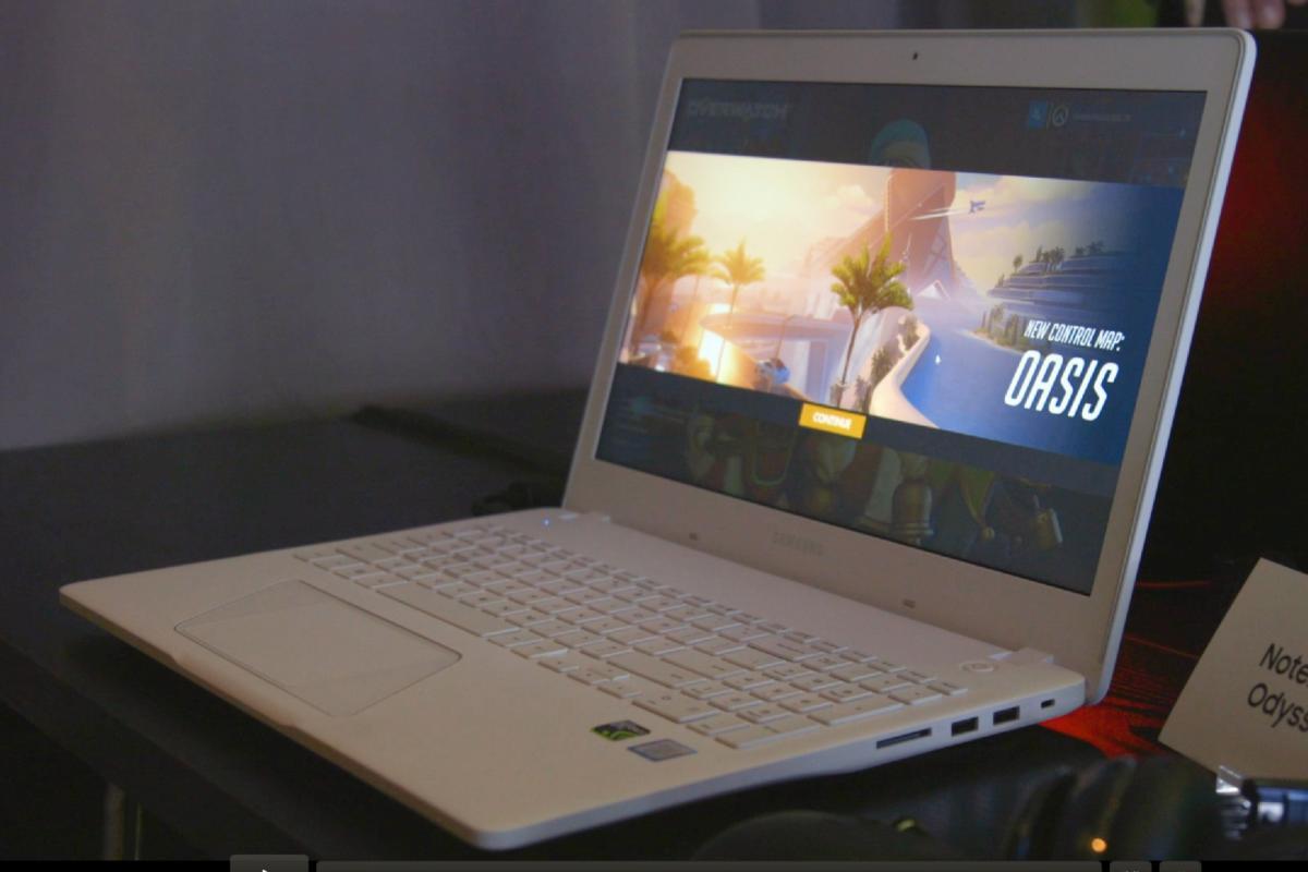 samsung odyssey notebook 15 inch white