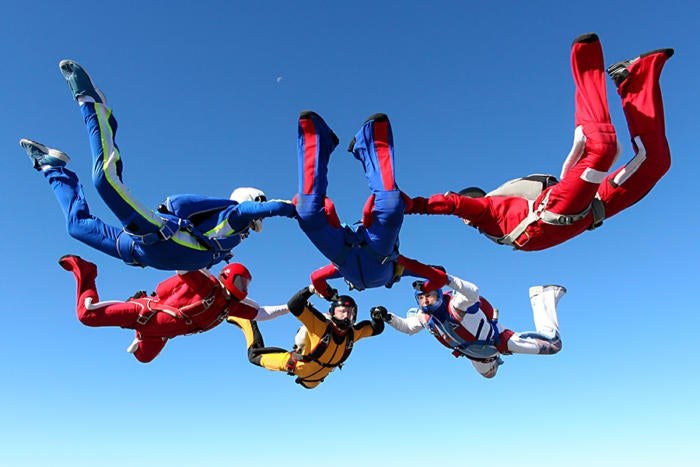 skydiving collaboration