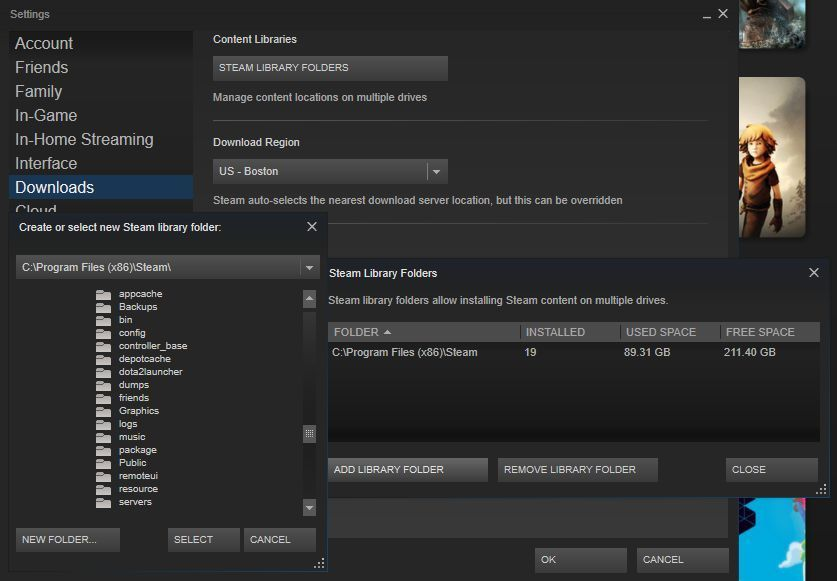 steam must be running to make use of find servers