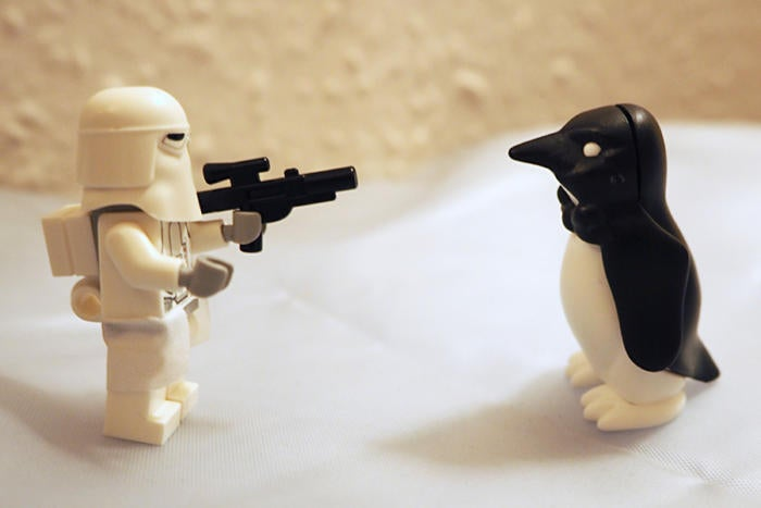 stormtrooper penguin [Henry Burrows / CC BY-SA 2.0]