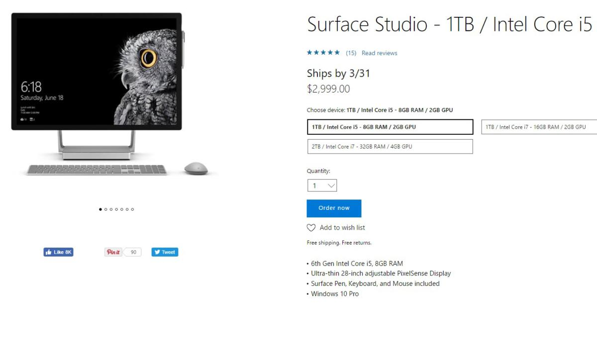 surface studio microsoft store