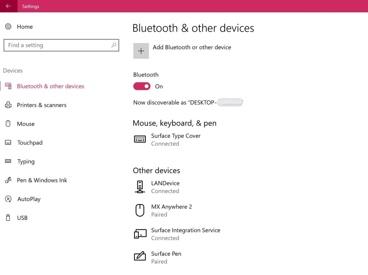 unified device settings