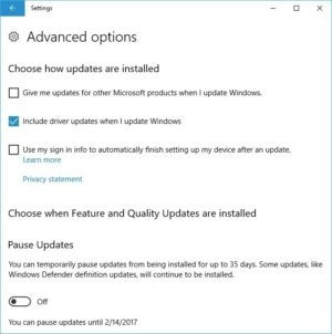 win 10 advanced options