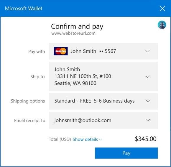windows 10 cu microsoft payments