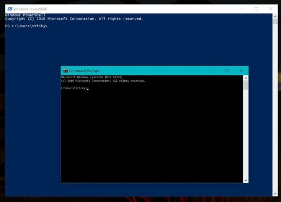 windows 10 cu powershell and command prompt