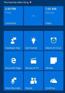 windows 10 cu start menu folders expanded