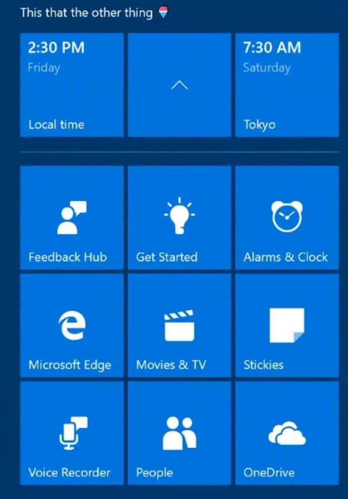 windows 10 cu start menu folders expanded