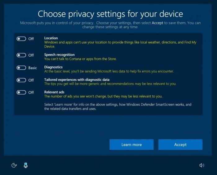windows 10 privacy dashboard