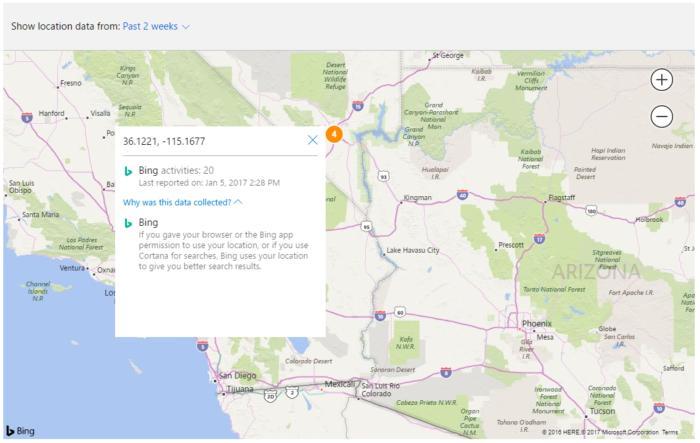 windows 10 privacy location data