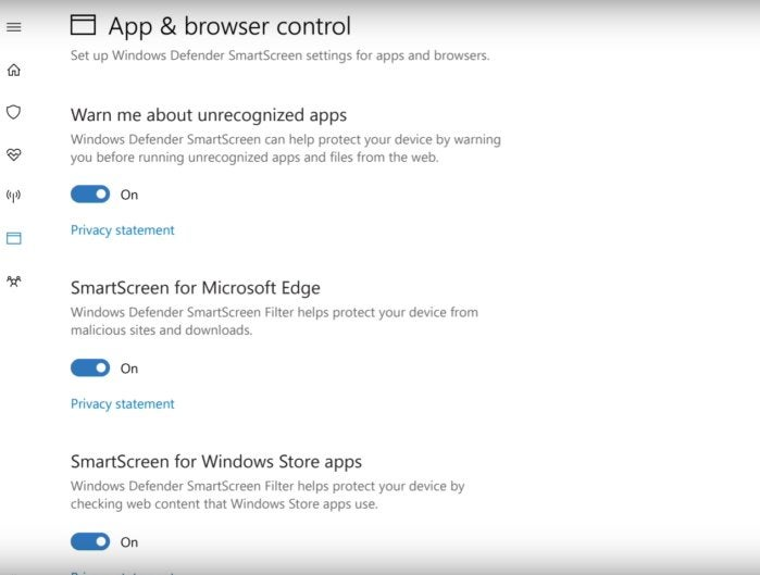 windows 10 windows defender apps