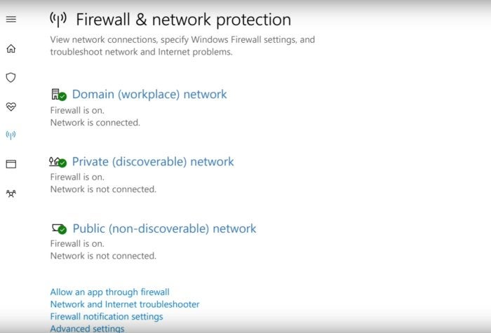 windows 10 windows defender firewall