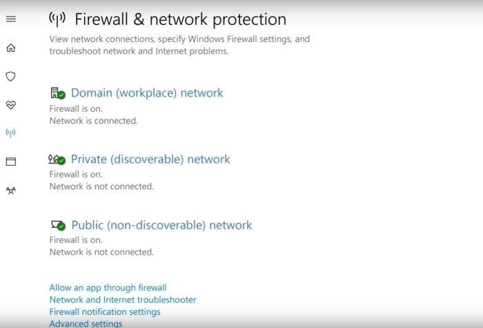 windows 10 windows defender firewall