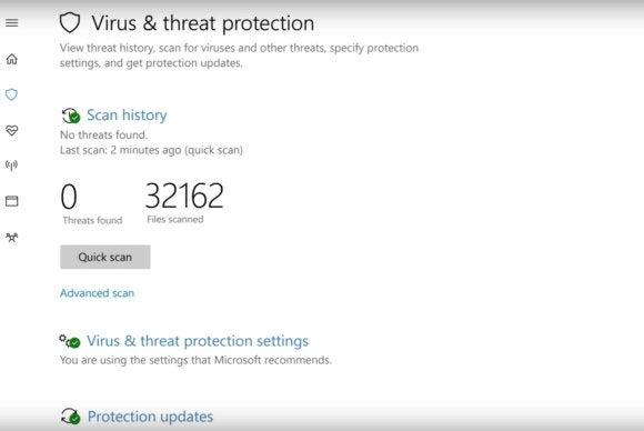 windows 10 windows defender security center threats