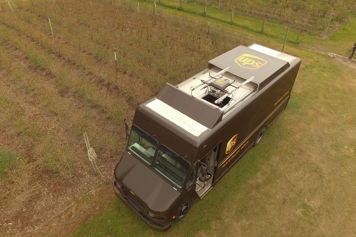 UPS Launches an Autonomous Drone from a Delivery Truck