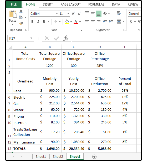 Excel Percentage Formulas Percentage Of Total Percent