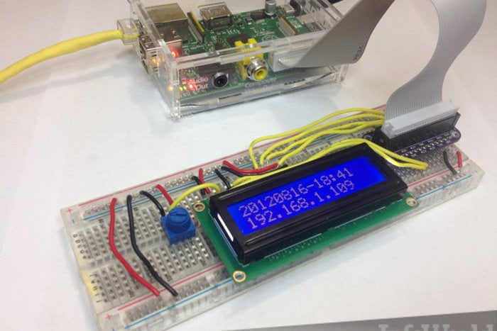 Roll your own LCD to display clock and IP address