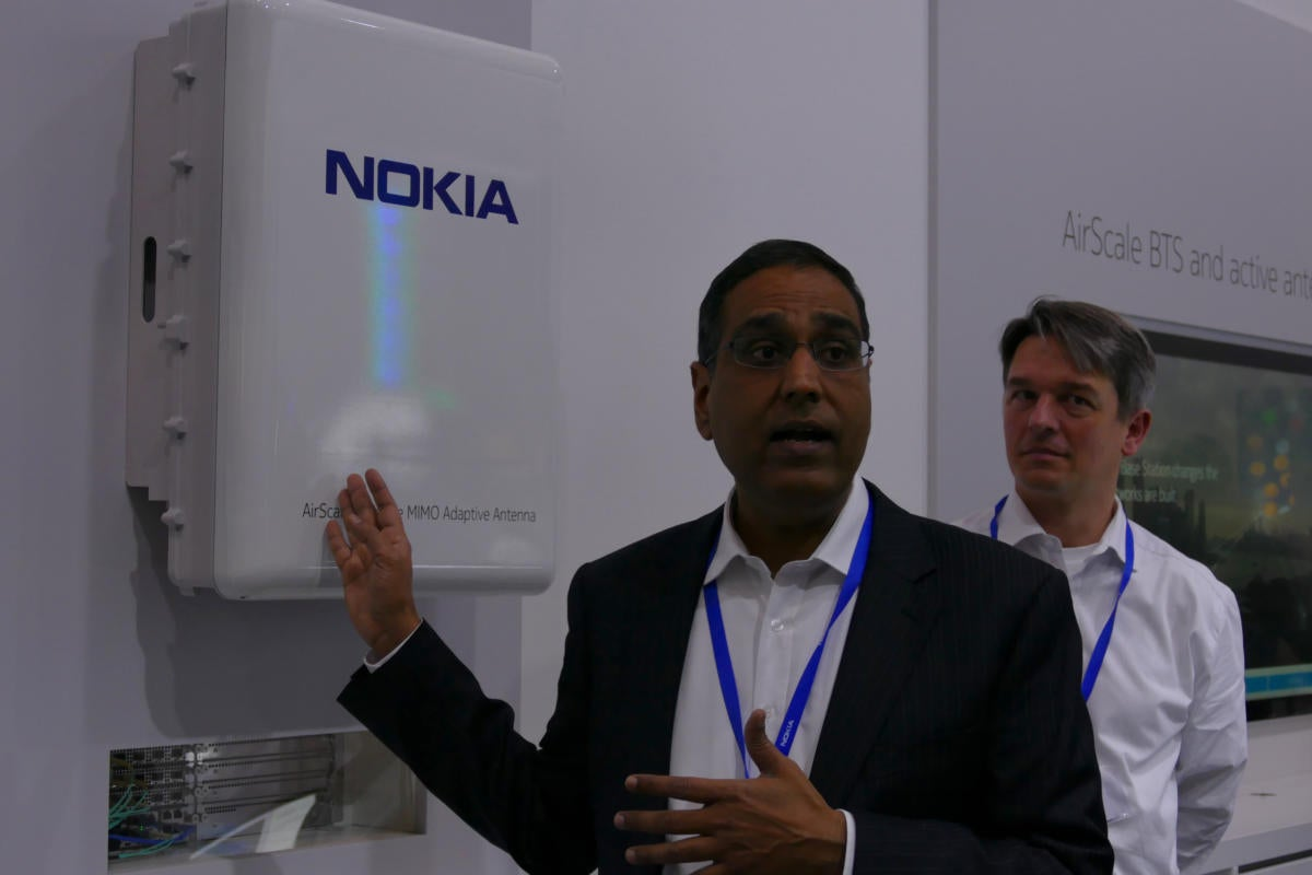 Nokia, Sprint show a massive MIMO antenna to boost cell