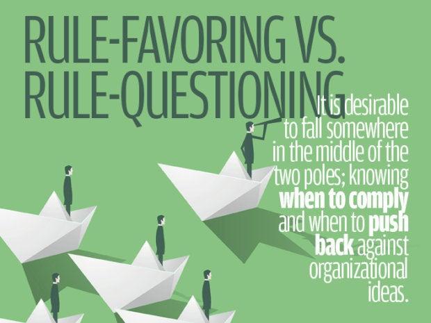 Rule-favoring vs. rule-questioning