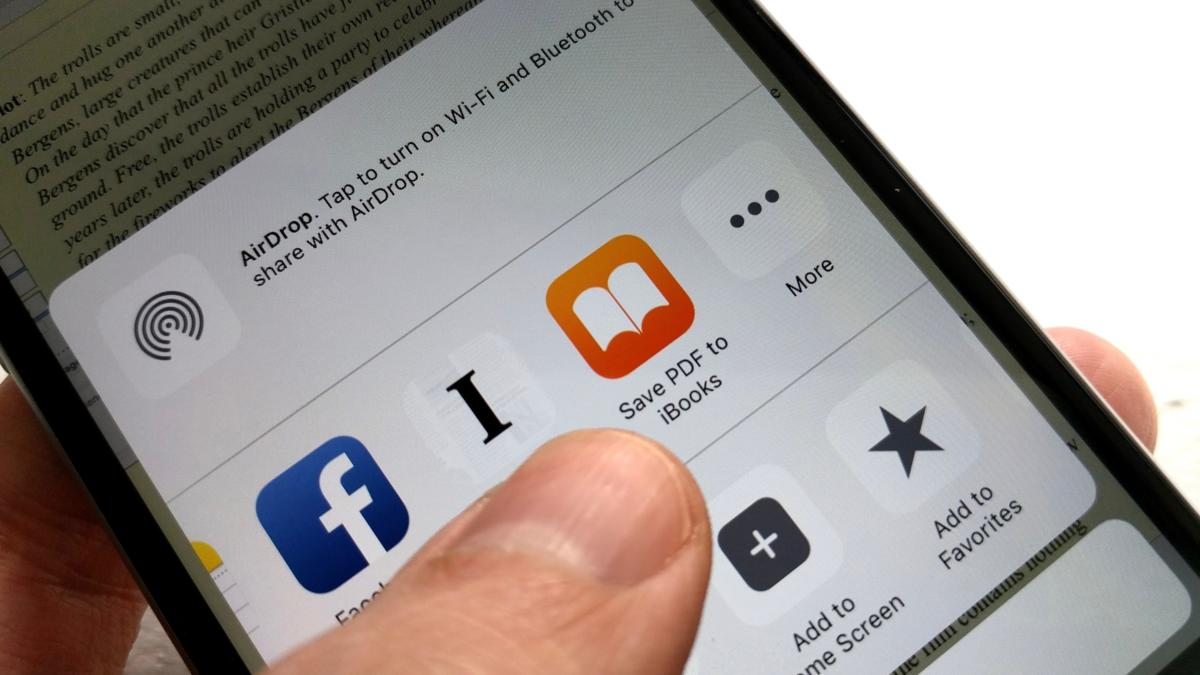 Save a webpage as a PDF in iBooks or Dropbox
