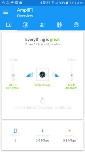 Amplifi app screen