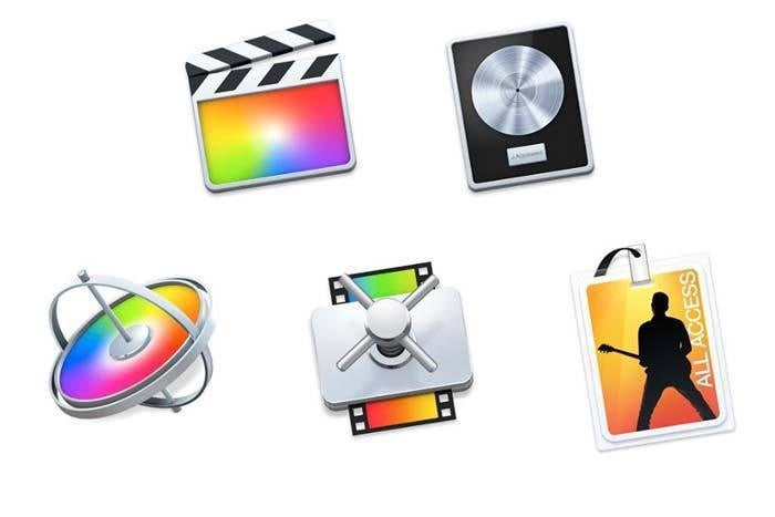 apple pro apps icons