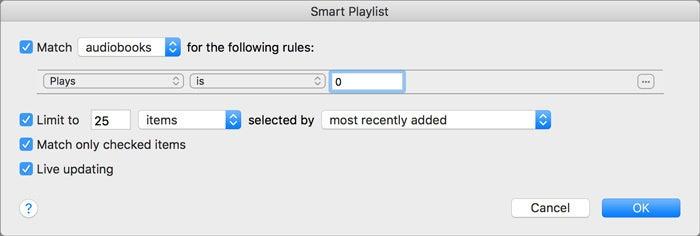audiobook playlist
